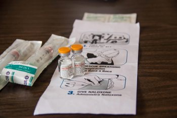Vials of Naloxone and instructions on how to administer it. © Jolene Yazzie for Al Jazeera America